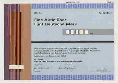 artware Grafik Kunst München AHAG Dortmund Einbeck 1998 Moderne Kunst 5 DM