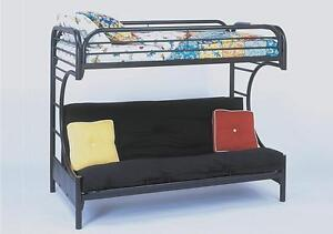 ★LORD SELKIRK FURNITURE - METAL T / FUT C BUNK BED - BL OR WH