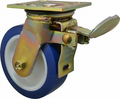E.r. Wagner 6 Inch Diameter X 2 Inch Wide Swivel Caster With Brake And Top P...