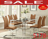 5178, dining room furniture table, 8 chairs, hatches and cabinet