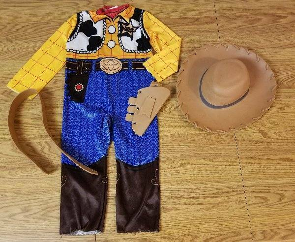 Toy Story Woody Cowboy Costume Disney Boys Sz 4-6 4 Piece W/ Hat