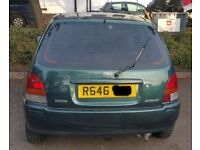 Toyota Starlet Tailgate Breaking For Parts (1998)