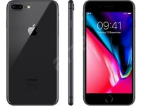 Apple iPhone 8 Plus 64gb Space grey Unlock all network Box, charger, EarPods and booklet