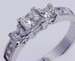 PRINCESS CUT DIAMOND SET ENGAGEMENT RING 18CT WHITE GOLD Buderim Maroochydore Area Preview