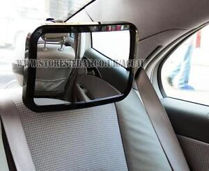 Car seat mirror without headrest