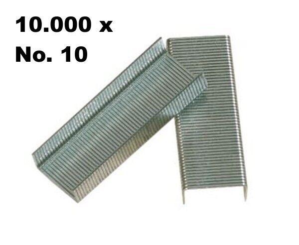10.000 Stück Heftklammern Größe No. 10 Tackerklammern Heftklammer 10000 Nr. 10
