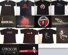 Rare band merch punk rock screamo emo t-shirts Bayswater Bayswater Area Preview