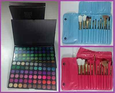 Paleta 120 Colores Sombra de Ojos + 12 Brochas de Maquillaje Profesional