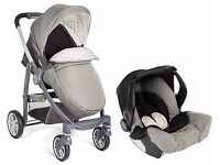 Graco Evo Avant Pushchair & Car Seat Travel System - Grey Classic