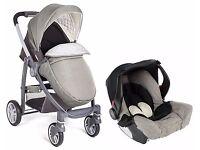 Graco Evo Avant Pushchair & Car Seat Travel System - Grey Classic