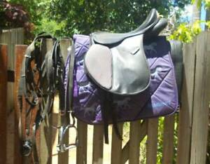 kincaid saddle..stirrups girth strap saddle cloth and bridle bir Gympie Gympie Area Preview