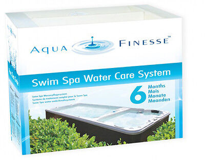 Aquafinesse Swim Spa Water Treatment Luxurious safe simple 6 months supply! Pool