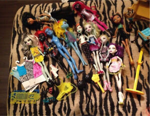Monster high, my little pony, ever after, Barbie, Ariel ++