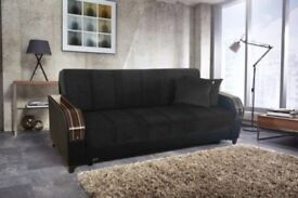 ORDER NOW SUPERB TURKISH SOFA BED WITH STORAGE BRAND NEW WE DO SAME OR NEXT DAY EXPRESS DELIVERY