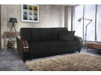 SAME OR NEXT DAY DELIVERY ORDER NOW= BRAND NEW TURKISH SOFA BED WITH STORAGE SPECIAL FABRIC SOFA BED