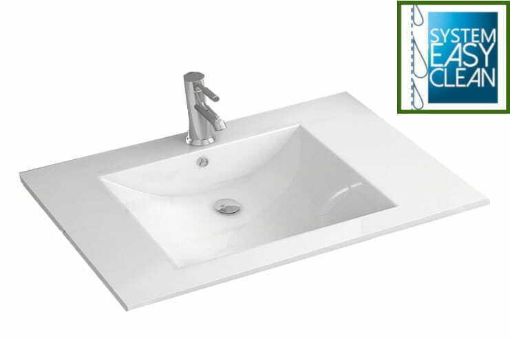 Waschbecken weiß Einbauwaschbecken Waschtisch Einsatz Einbau breite 50 bis 75 cm   eBay