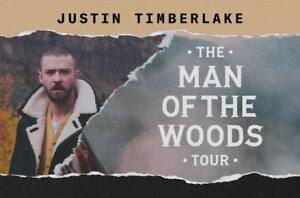 2 sets 4 tickets to Justin Timberlake - The Man of the Woods