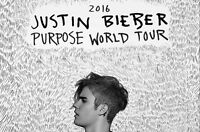 2 Tickets to Justin Bieber Concert in Montreal on May 16, 2016