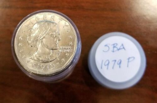 1979-P - Roll of 20 Susan B Anthony (SBA) $1 Dollar Coins in Tube