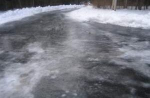 Driveway Icy?   Sand or salt spread with commercial spreader