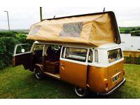 VW camper van 1972 beautiful condition, 6 berth, Viking conversion. 12 months MOT, no Tax required