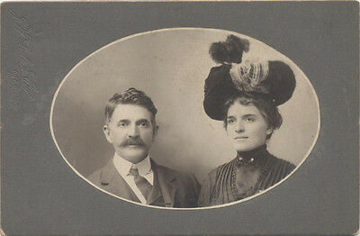 Oval Window Card (CABINET CARD, OVAL WINDOW. RICHMOND VIRGINIA. MAN WITH MUSTACHE, WOMAN WITH)
