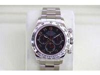 Rolex Cosmograph Daytona S/S Black Arabic Dial - SW7750
