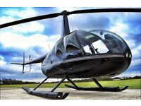**6 mile helicopter flight for two with champagne** Sunday 10th September**Unwanted gift**
