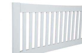 NEW, BOXED. 5ft King Size white wood wooden headboard bed head end. Serene Mya