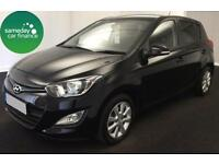 £106.25 PER MONTH BLACK 2013 HYUNDAI i20 1.2 ACTIVE 5 DOOR PETROL MANUAL