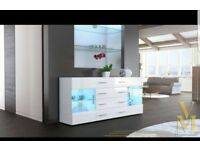 Stunning high gloss side cabinet furniture brand new £180