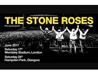 Four tickets to The Stone Roses at Wembley 17th june