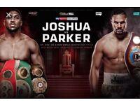 Anthony Joshua v Joseph Parker 31/03/18 tickets X2