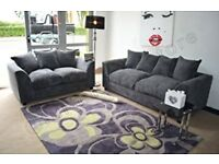 Grey Fabric Sofa - 3 seater, 2 Seater and Foot Stool. 4 month old. Excellent condition.