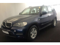 Blue BMW X5 3.0TD auto 2010 xDrive30d SE FROM £57 PER WEEK!