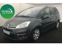 £214.56 PER MONTH GREY 2013 CITROEN GRAND PICASSO 1.6 PLATINUM 7 SEATER DIESEL
