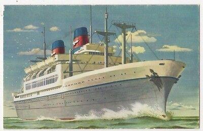 American President Lines, S.S. Cleveland / Wilson Shipping Art Postcard B626