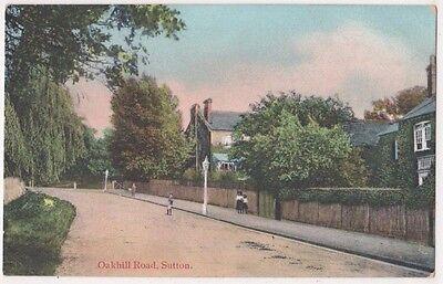 Oakhill Road Sutton, Surrey Postcard, B694