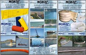 barrier oil sorbent - momar sport - barrier float - panne pollutio - panne oil - spill - drill - oil