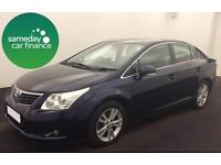 ONLY £188.62 PER MONTH BLUE 2011 TOYOTA AVENSIS 2.0 D-4D T4 4 DOOR DIESEL MANUAL