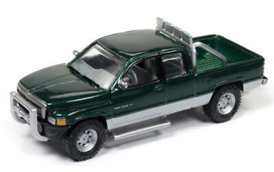 1 64 Johnny Lightning 1996 Dodge Ram 1500 In Forest Green Metallic   Silver