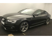 Black AUDI A5 HATCHBACK 1.8 2.0 TDI Diesel SPORT S LINE FROM £83 PER WEEK!