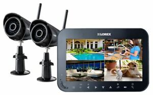 "Wireless Video Surveillance System with 7"" Monitor & 2 Cameras"