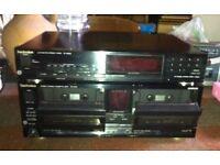 Vintage Technics tape and radio deck