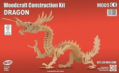 Dragon Woodcraft Construction Kit - Oriental 3D Wooden Model Puzzle KIDS/ADULTS