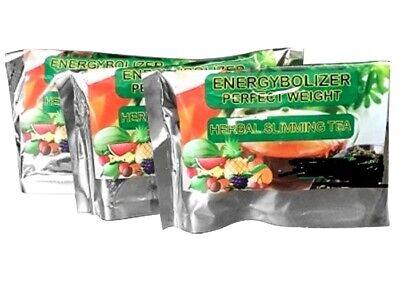 Energybolizer Slimming Tea, 3 Bags of 24 Teas, Orange Lose weight cleanse colon