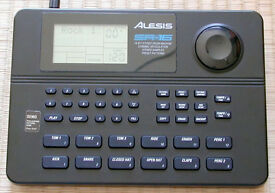 ALESIS SR-16 DIGITAL DRUM MACHINE WITH ORIGINAL BOX AND MANUAL