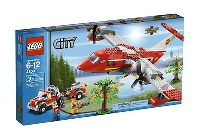 4209 FIRE PLANE lego city town legos set air craft jeep airplane men fighter