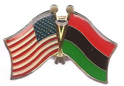 LOT OF 3 African American Friendship Flag Lapel Pins - Afro American Flag Pins