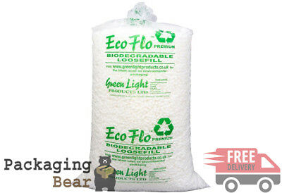 6 Cubic Foot Box of ECOFLO Biodegradable Loose Void Fill Packing Peanuts